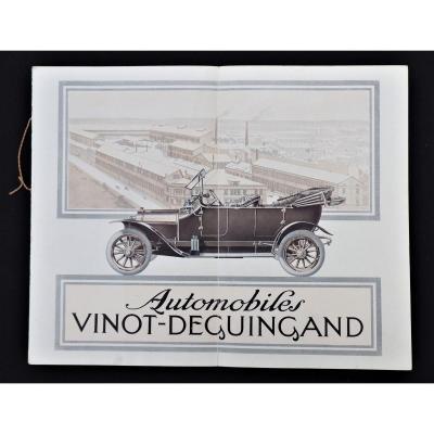 Plaquette Publicitaire - Automobiles Vinot Deguingand époque 1ère Guerre Mondiale