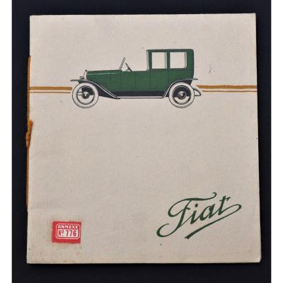 Livret Catalogue Publicitaire - Automobiles Fiat - époque première guerre mondiale 1914-1918