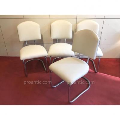 F.-A. BREUHAUS: 4 chaises modèle St 17, circa 1935