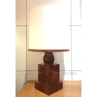 Lampe en palissandre art-déco 1930