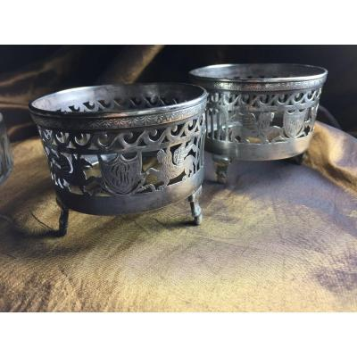 Pair Of Silver Salarons
