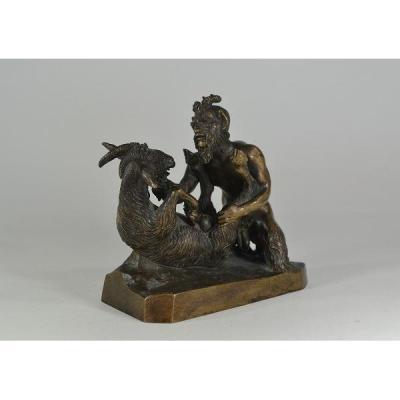 Bronze Erotique Dieu Pan, Satyre, Faune