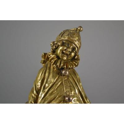 Dh Chiparus, Sculpture En Bronze Art Deco, Le Petit Clown