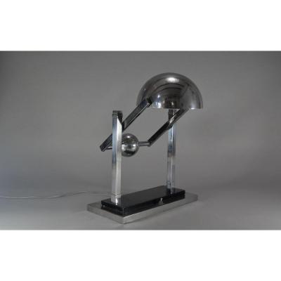 Modernist Jacques Adnet. Satellite Desk Lamp Art Deco