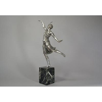 Joe Descomps. Sculpture En Bronze Art Deco danseuse Russe