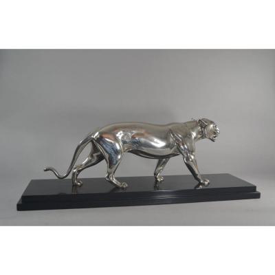 Panthere En Bronze Art Deco. A. De Leury