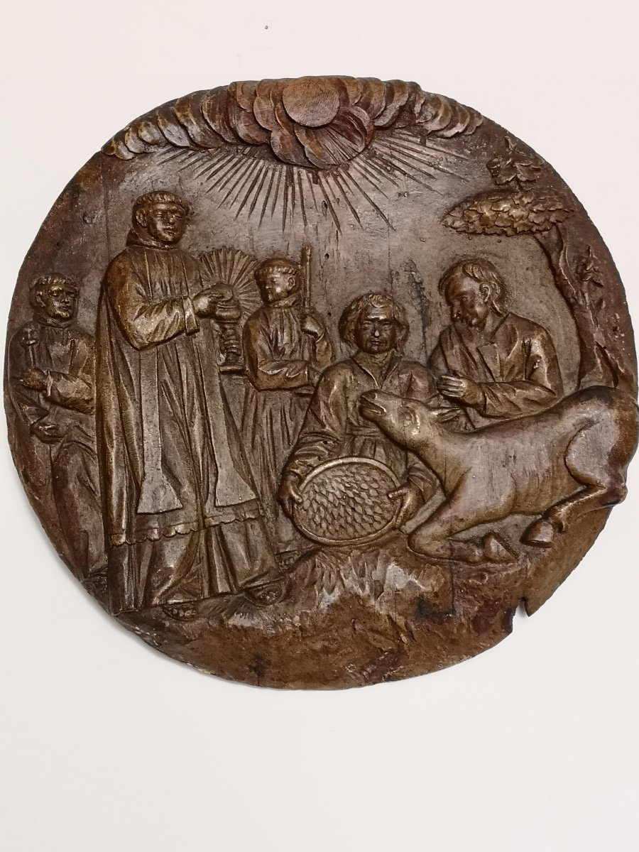 Religious Scene, Carved Wood XIX