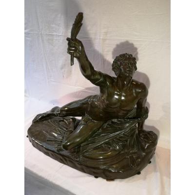 Bronze Patine Vert Signé Cortot