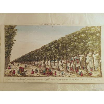 5 Optical Views XVIII Century Landscapes Of France