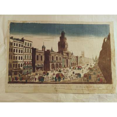 2 Optical Views XVIIIth Century London England