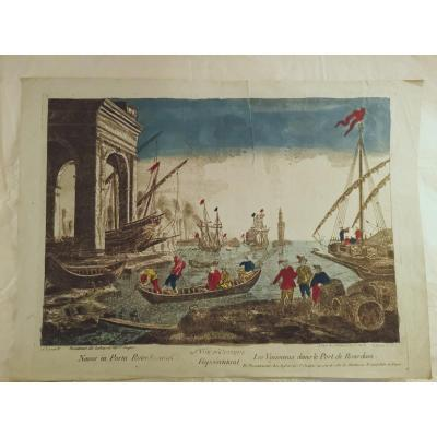 4 Optical Views XVIII Century Egypt, Poland, Holland