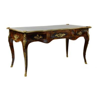 Bureau De Style Louis XV En Placage De Palisandre