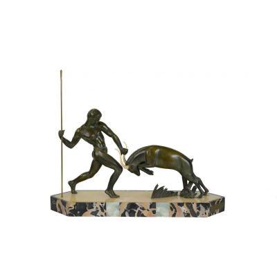 Sculpture Art Deco En Bronze