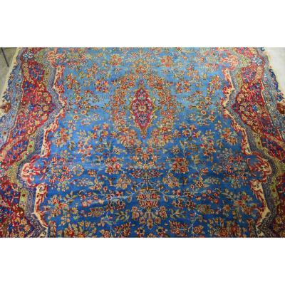 Grand Tapis Kirman Persian Vers 1950