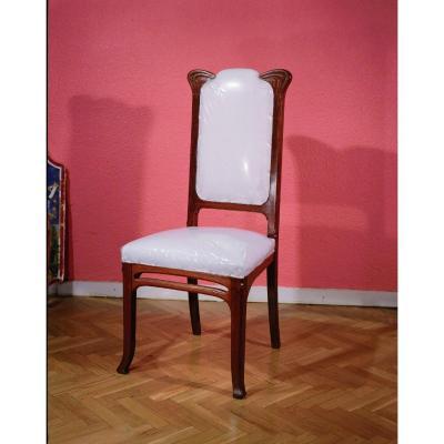 Chaise En Chêne Sculpté x6