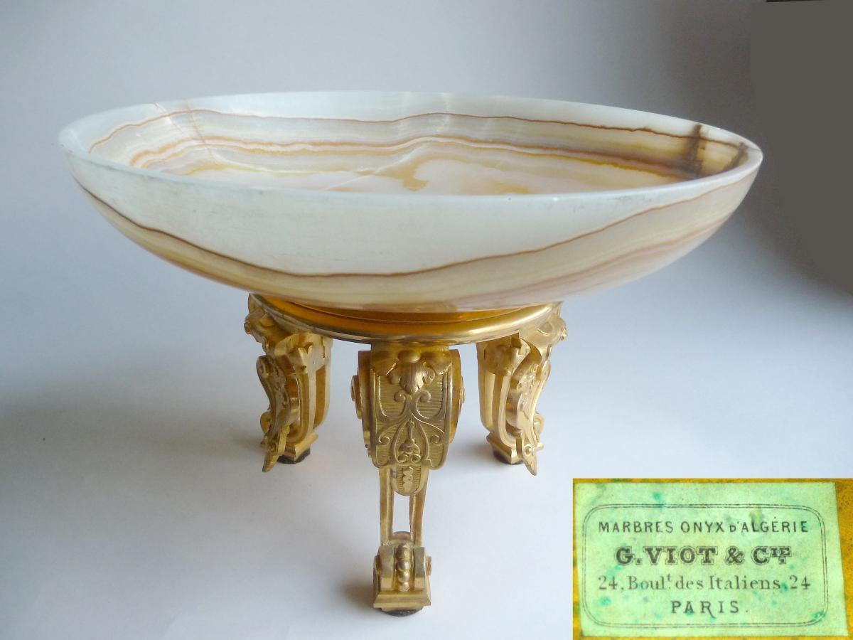 Viot, A Gilt Bronze Mounted Onyx Marble Bowl