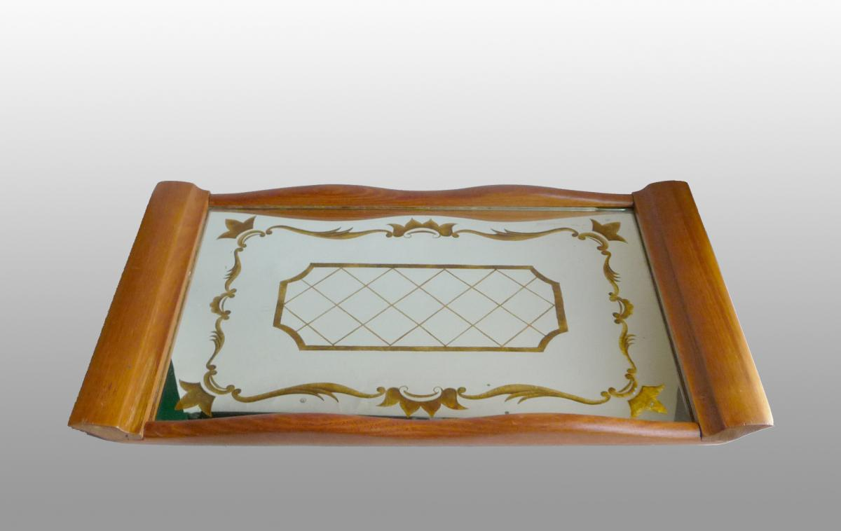Eglomized Mirror Service Tray
