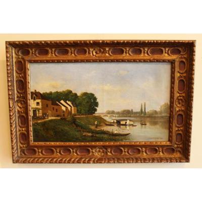 Au bord de la Seine par  A.Dannequin