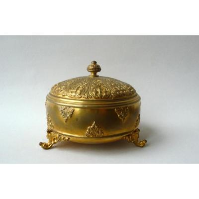 Barbedienne, Boîte Orientalisante En Bronze Doré