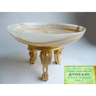 Viot, Coupe En Onyx Et Bronze Doré