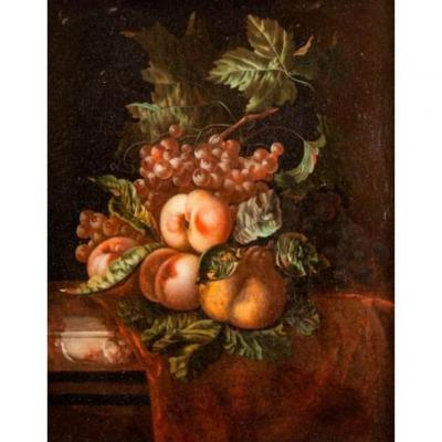 Composition Pommes et Raisins        Ernst STUVEN  (1657- 1712)