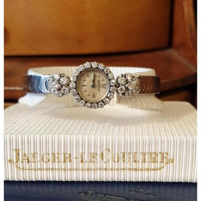 Montre Bracelet Joaillerie Pour Femme ( Or Gris Et Diamants ) Jaeger LeCoultre