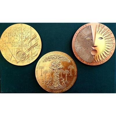 Médailles Par La Monnaie De Paris Pour Les Voeux