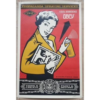 Stay Up Girl ! - Shepard Fairey