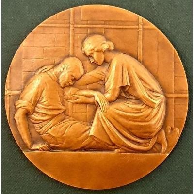Médaille en Bronze Par Ovide Yencesse