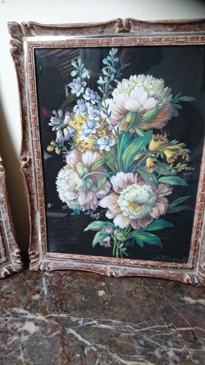 Gouache Bouquet De Fleurs
