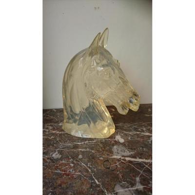 Tête De Cheval En Résine