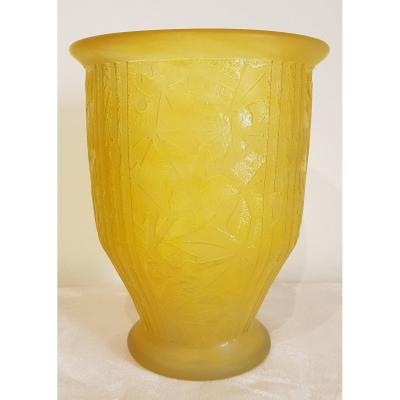 Daum Nancy France Vase Art Déco 1930