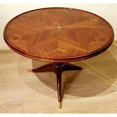 Maurice Jallot Table Basse  Marqueterie Circa 1940