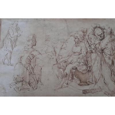 Salomé présente la tête de St Jean Batiste à Hérode Antipas