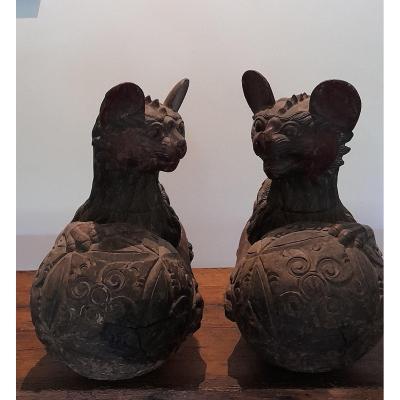 Pair Of Asian Sculptures