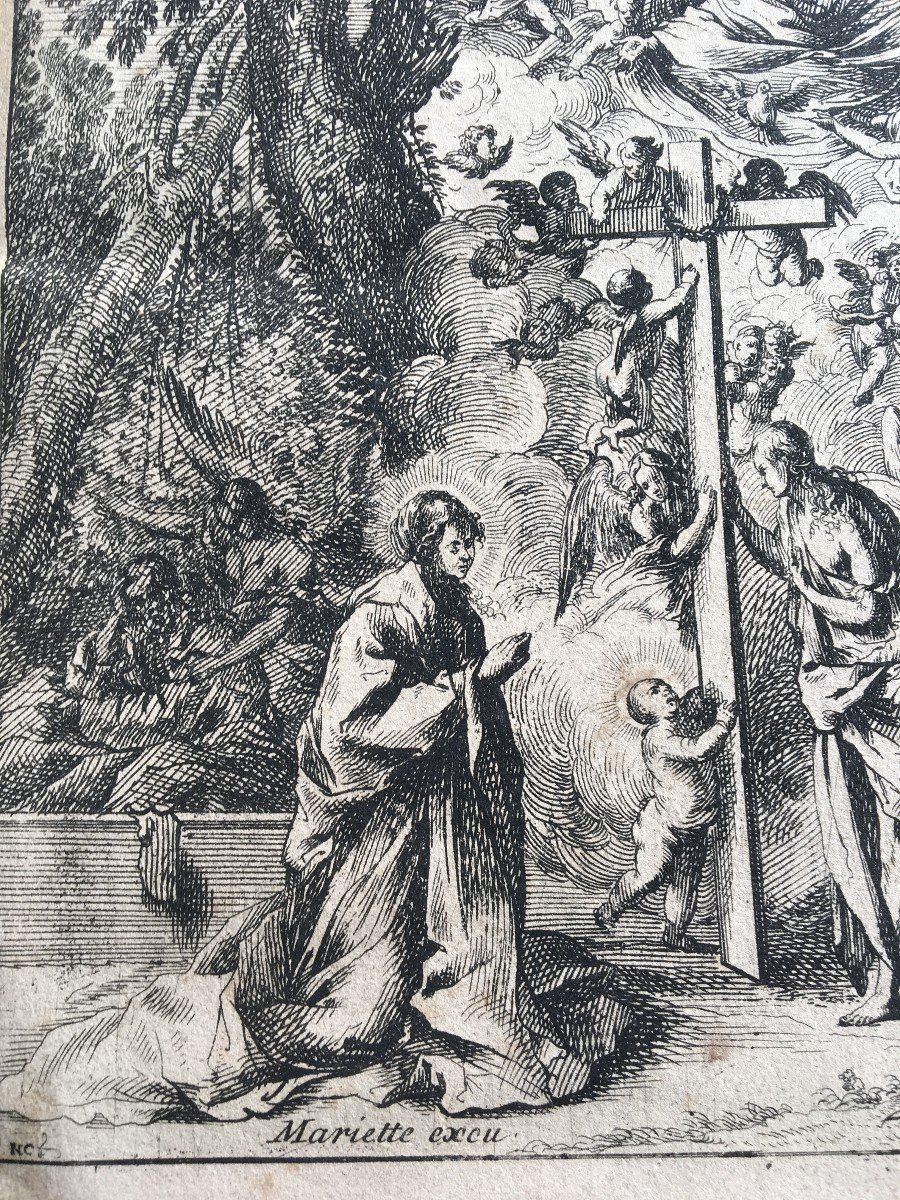 XVII Italian Engraving By Pietro Testa And Nicolas Cochin-photo-3