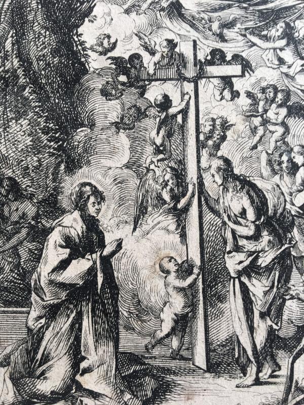 Gravure  Italienne XVII Pietro Testa et Nicolas Cochin-photo-2