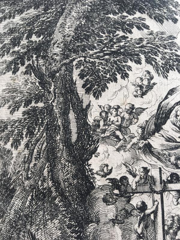 Gravure  Italienne XVII Pietro Testa et Nicolas Cochin-photo-4
