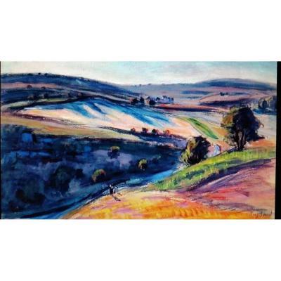 "René Seyssaud  ""paysage Animé"""