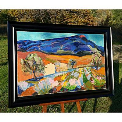 "Pascal Ambrogiani   ""paysage De Haute-provence"""