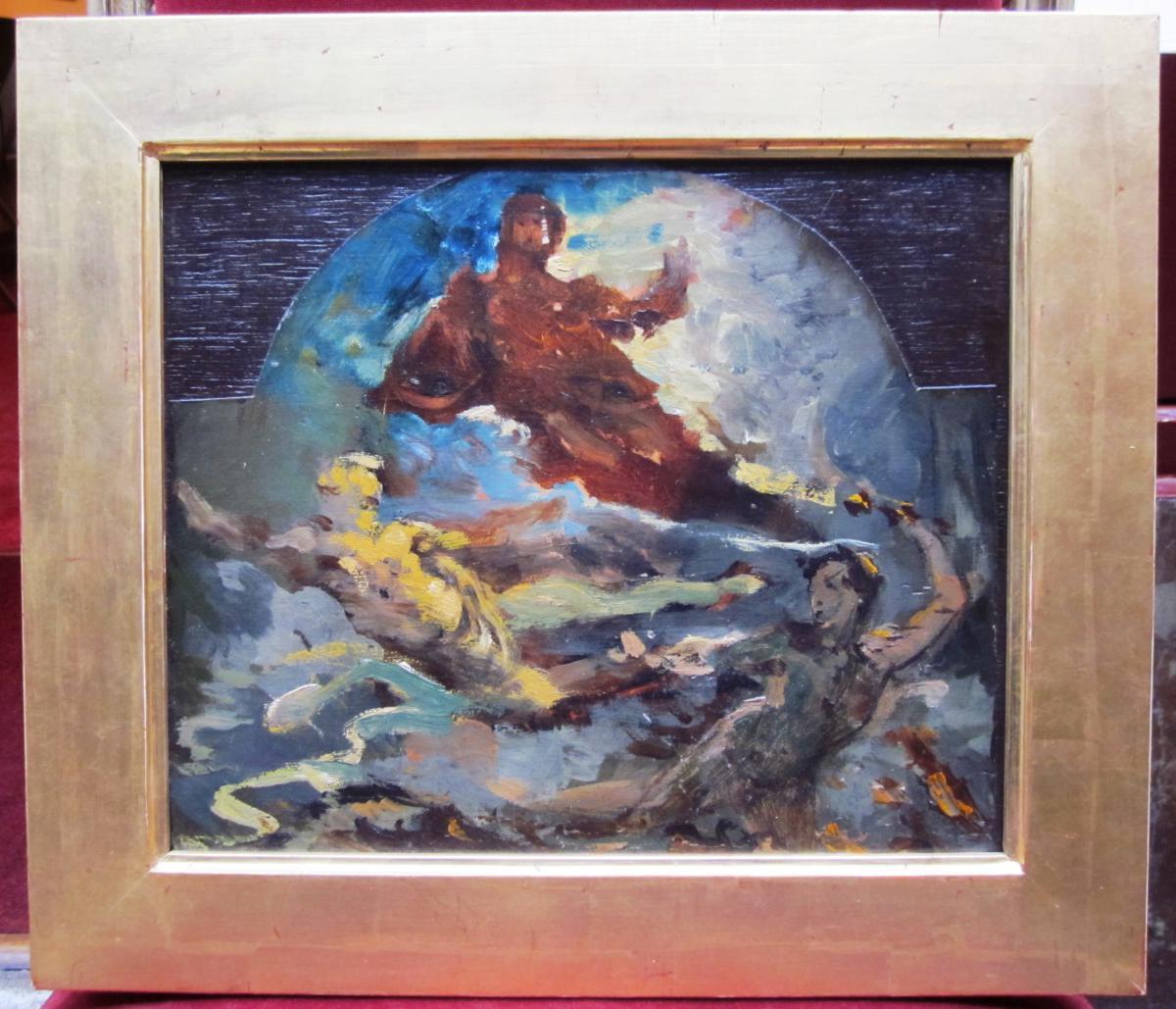 Attributed To Léon Bonnat 1833-1922 Project Ceiling