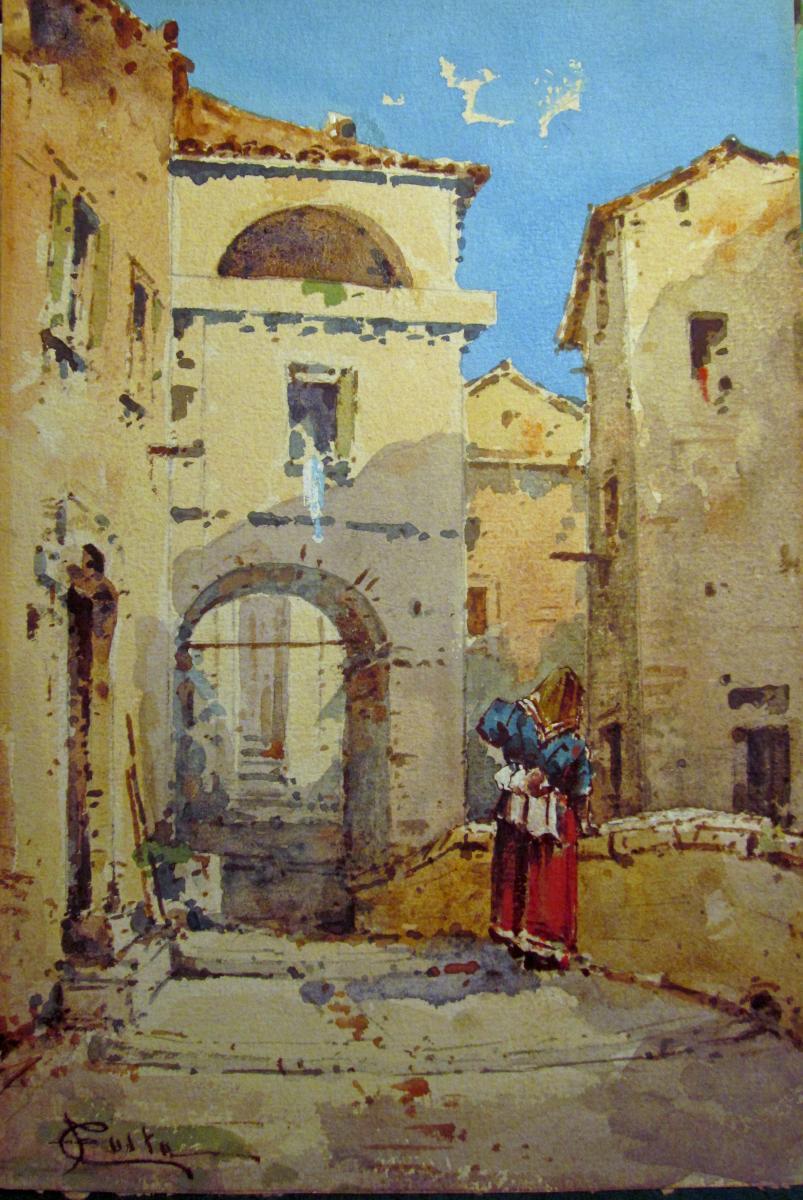 """Emmanuel Costa 1833-1921 """"rue Du Vieil Antibes"""""""