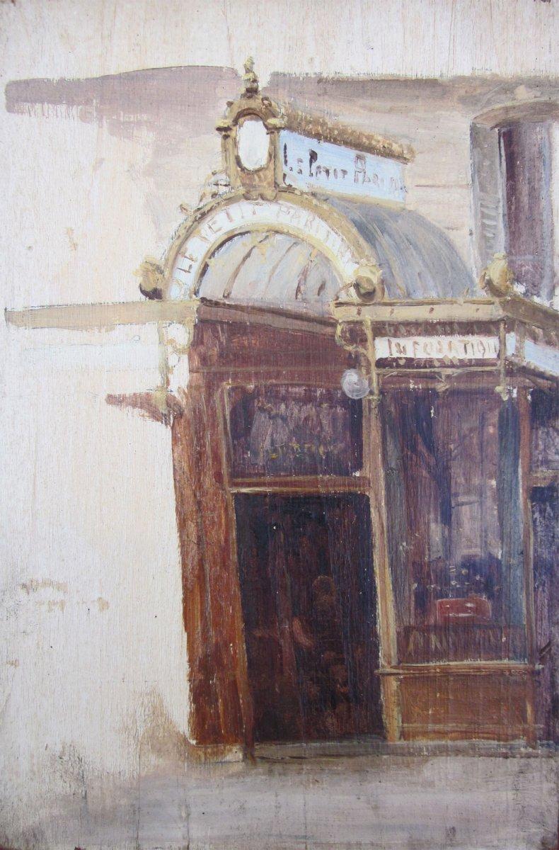 Alexandre Bailly 1866-1949 Entrée Du Journal Le Petit Parisien