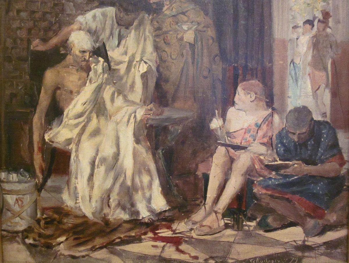 Georges Antoine Rochegrosse 1859-1938 La Mort De Sénèque