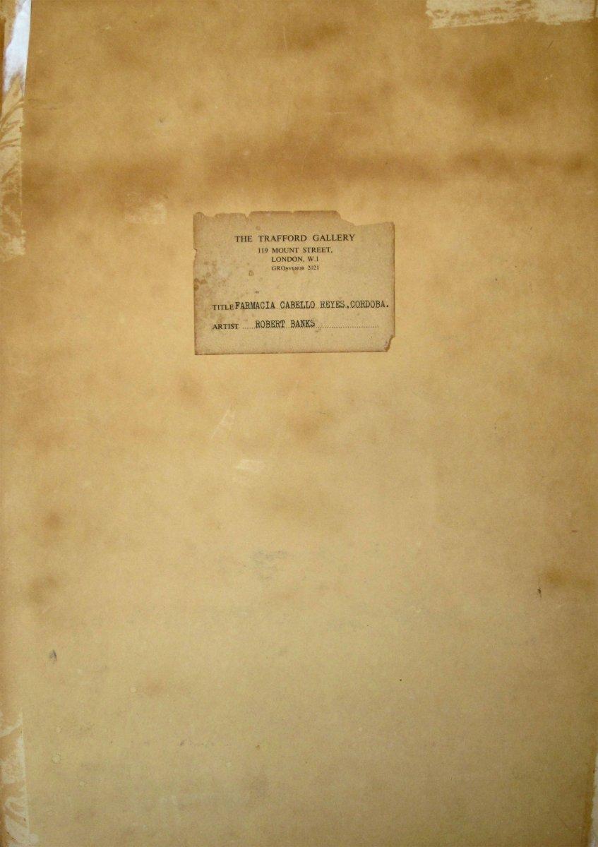 Robert Banks 1911-2001 Un Patio à Cordoue Espagne Aquarelle-photo-1