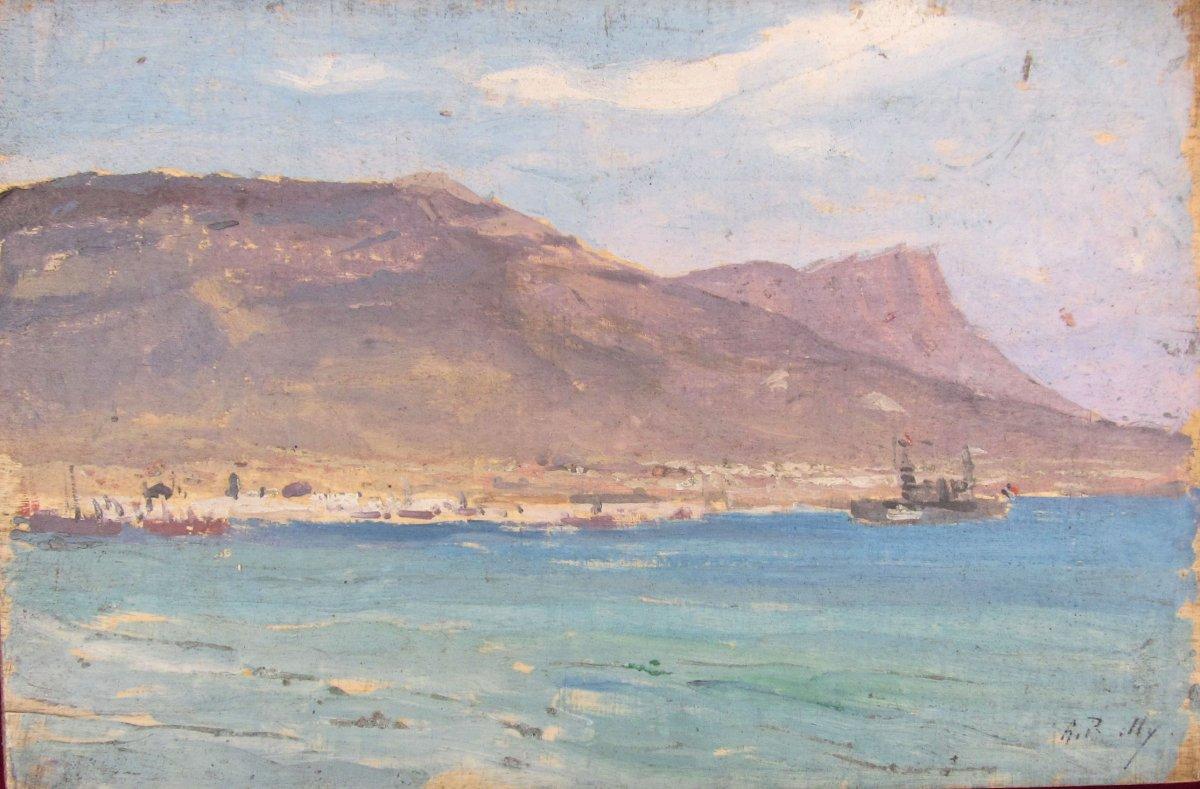 Alexandre Bailly 1866-1949 Vue De Toulon