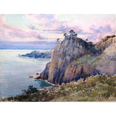 Emile Appay 1876-1935 Extrémité Du Cap Corse