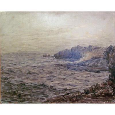 """Georges R. Ricard-cordingley 1873-1939 """"la Pointe Du Raz"""""""