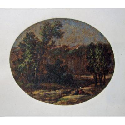 Constant Dutilleux 1867-1904 Huile Sur Papier