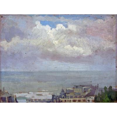 Jean Dugrenot 1894-1969 Vue De Biarritz